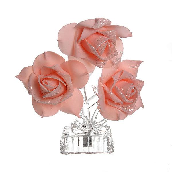 Фигурка из акрила ″Лебеди с розой и сердцем″ 14,5 см С003-95 купить оптом и в розницу