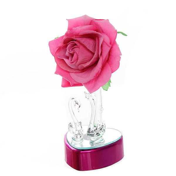 Сувенириз акрила″Лебеди с розой и сердцем″ 15,5 см С001-93 купить оптом и в розницу
