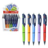 Ручка шар.авт.Tenfon 0,7мм синяя, трехгран. корпус, ассорти купить оптом и в розницу