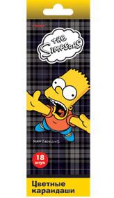 Цв.каранд.18цв PROFF The Simpsons к/у с европодв. купить оптом и в розницу