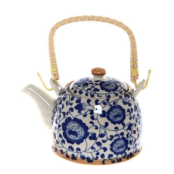 Чайник заварочный керамический 450 мл с ситом ″Русские узоры″ ХХ661 купить оптом и в розницу