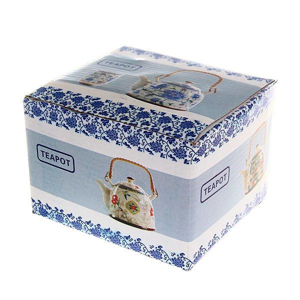 Чайник заварочный керамический 450 мл с ситом ″Русские узоры″ купить оптом и в розницу