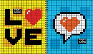 """Тетрадь-перевертыш 96л.кл.гребень ПЗБФ, """"Пиксель"""", ваб.лак купить оптом и в розницу"""