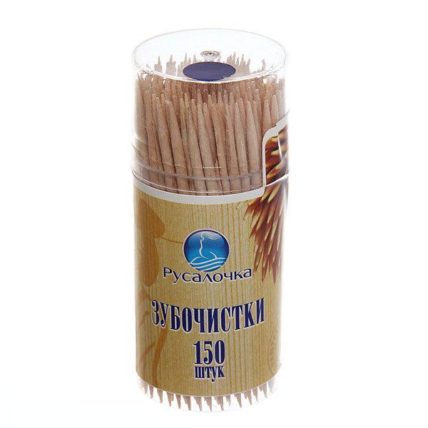 Зубочистки 150шт ″Русалочка″ в пластиковой банке купить оптом и в розницу