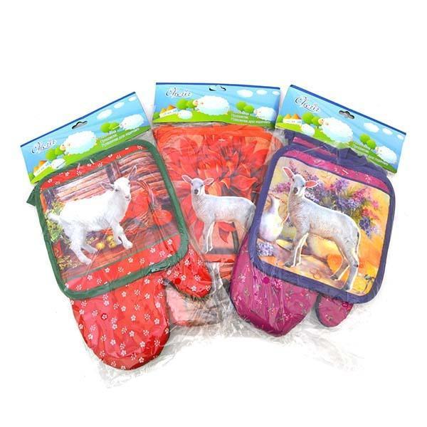 Н-р для кухни: рукавичка, прихватка Овца *10шт купить оптом и в розницу