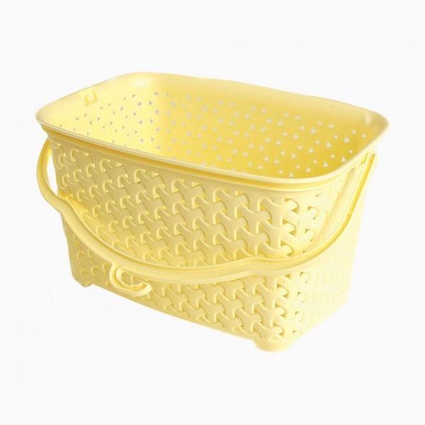 Корзина для прищепок желтый  235х154х130  3 л *36 купить оптом и в розницу