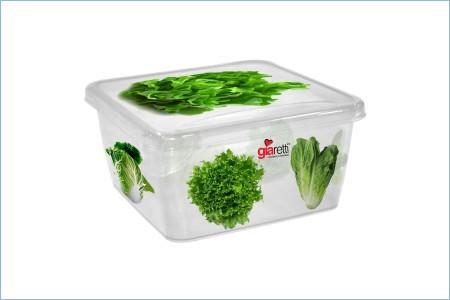 Емкость для продуктов Браво Салат квадратная 0,45 л * 60 купить оптом и в розницу