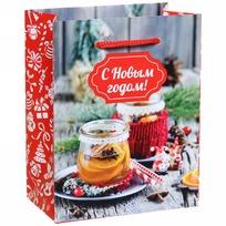 Пакет подарочный 11х14 см вертикальный ″С Новым годом!″, Вкус праздника купить оптом и в розницу