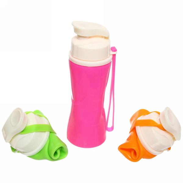 Бутылка силиконовая 500мл складная купить оптом и в розницу