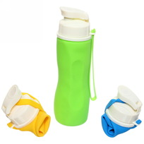 Бутылка силиконовая 750мл складная В008 купить оптом и в розницу