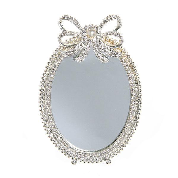 Зеркало настольное в металлической оправе ″Камея″ овал в подарочной коробке 13*9см купить оптом и в розницу