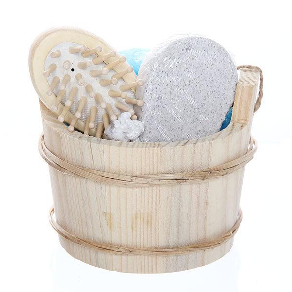 Банный набор в деревянной кадушке ″Банька″ из 3 предметов купить оптом и в розницу
