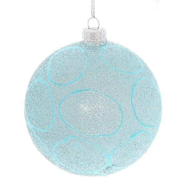 Новогодние шары ″Ледовый узор″ 8см (набор 2шт.) купить оптом и в розницу