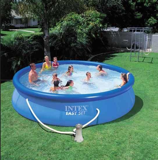 Бассейн надувной Easy Set 457*91 см + насос-фильтр 3785 л/ч (А) Intex (56412) (28162) купить оптом и в розницу