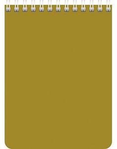 """Блокнот А6 60л.кл.гребень,карт.обл.HATBER, """"Золотой"""" купить оптом и в розницу"""