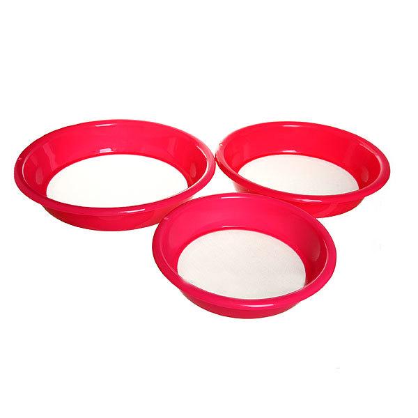 Сито пластиковое в наборе 3 шт гладкое купить оптом и в розницу