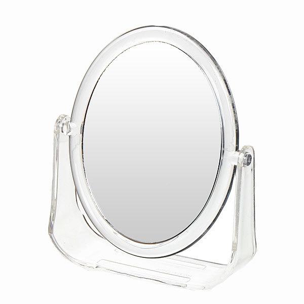 Зеркало настольное на подставке ″Модерн - Овал″ прозрачное, двухстороннее 14*11см купить оптом и в розницу