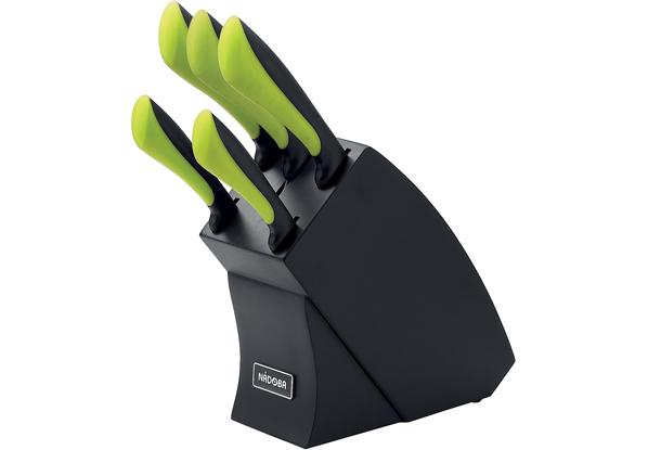 Набор из 5 кухонных ножей с блоком, NADOBA, серия JANA *4 купить оптом и в розницу