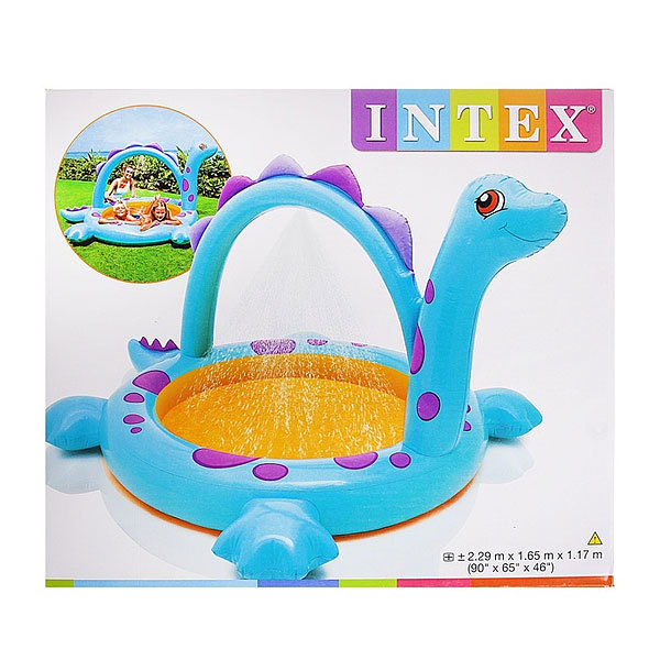 Бассейн надувной 229*165*117 см Intex (57437) Dino spray купить оптом и в розницу
