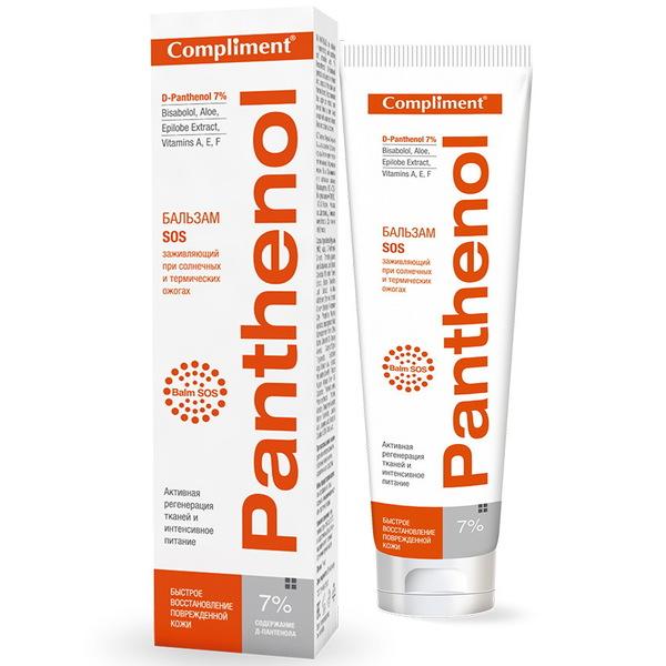 Бальзам SOS заживляющий при солнечных и термических ожогах Compliment. Panthenol 75 мл (9389) купить оптом и в розницу