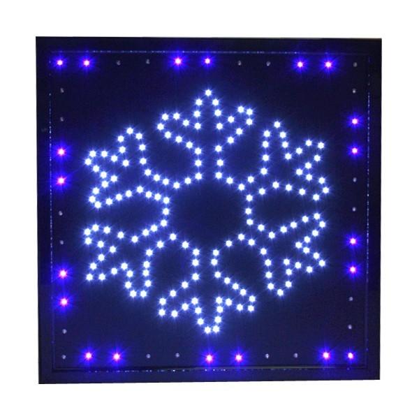 Световое табло LED 45*55см ″Снежинка″, 220B 2цвета (LB-S32) купить оптом и в розницу