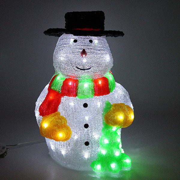 Фигура светодиодная 50х39х28 ″Снеговик″ купить оптом и в розницу