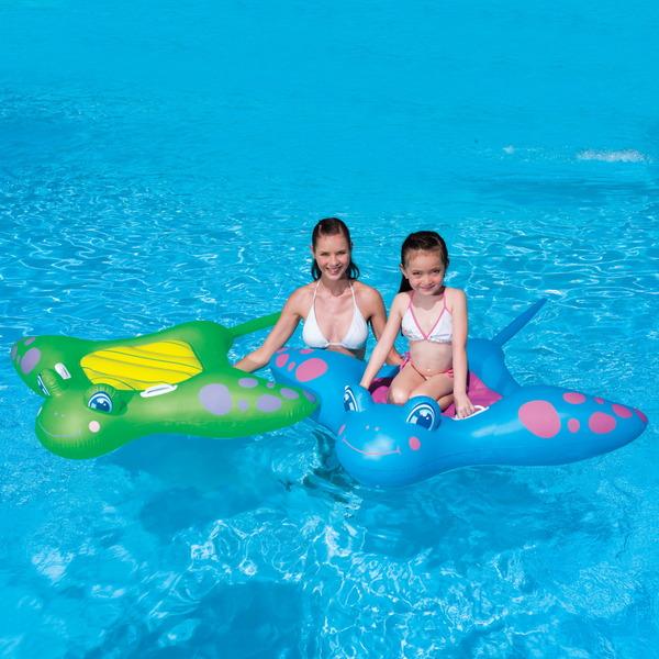 Игрушка для плавания верхом 150*114 см c ручкой Manta Ray Bestway (41084В) купить оптом и в розницу