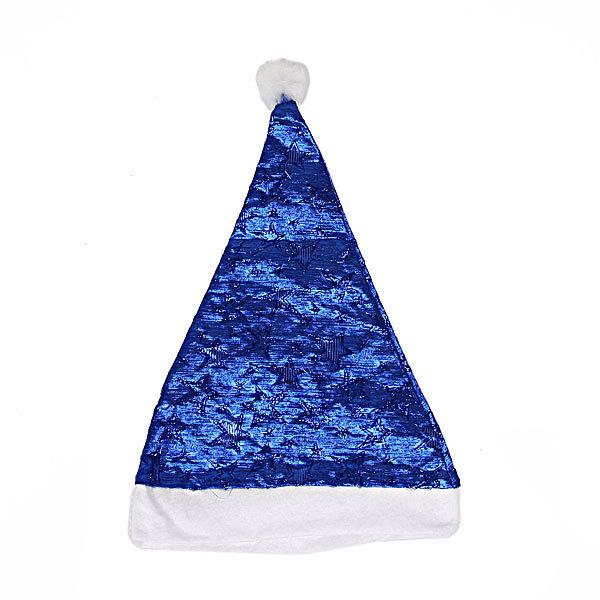 Колпак новогодний, синий ″Звездочки″, 28*38см купить оптом и в розницу