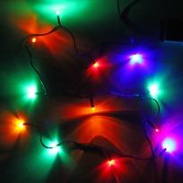 Гирлянда светодиодная 1,5м,12 ламп LED, Мультицвет, 8 реж, зелен.пров. купить оптом и в розницу