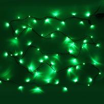 Гирлянда светодиодная 1,5м,12 ламп LED, Зеленый, 8 реж, зелен.пров. купить оптом и в розницу