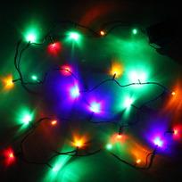 Гирлянда светодиодная 2,4м, 24 ламп LED, Мультицвет, 8 реж, зелен.пров. купить оптом и в розницу