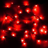 Гирлянда светодиодная 2,4м, 24 ламп LED, Красный, 8 реж, зелен.пров. купить оптом и в розницу