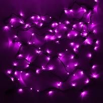 Гирлянда светодиодная 2,4м, 24 ламп LED, Розовый, 8 реж, зелен.пров. купить оптом и в розницу