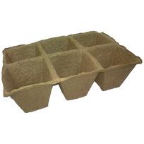 Горшочек торфяной квадратный 90*90 мм (блок 6 шт) купить оптом и в розницу