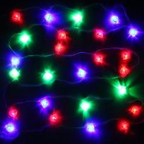 Гирлянда светодиодная 2,5м, 20ламп LED, Сердце, RG/RB(красный,зеленый/красный,синий), авт.реж, пр.пров., с возм. соед. купить оптом и в розницу