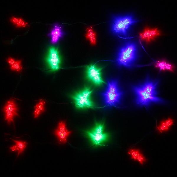 Гирлянда светодиодная 2,5м, 20 ламп LED, Заяц, RG/RB(красный,зеленый/красный,синий), авт.реж, пр.пров. купить оптом и в розницу