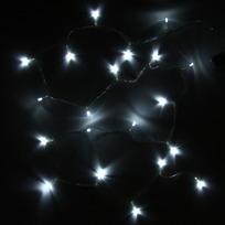 Гирлянда светодиодная на батарейках 3 х АА, 2,2м,20 ламп LED, Белый, проз.пр купить оптом и в розницу