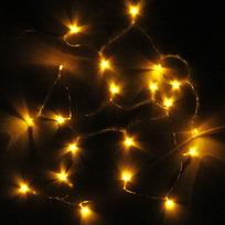 Гирлянда светодиодная на батарейках 3 х АА, 2,2м,20 ламп LED, Желтый, проз.пр купить оптом и в розницу