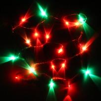 Гирлянда светодиодная на батарейках 3 х АА, 2,2м, 20 ламп LED, RG/RB(красный, зеленый/красный,синий), проз.пр купить оптом и в розницу