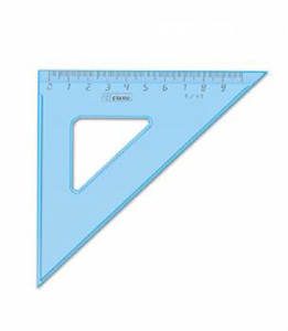 Треуг.средний Cristal 1цв.тониров. голуб. 90мм угол 45 купить оптом и в розницу