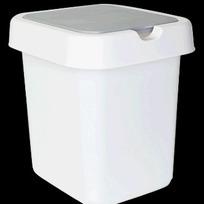 """Контейнер для мусора """"Квадра"""" 9 л белый * 8 купить оптом и в розницу"""