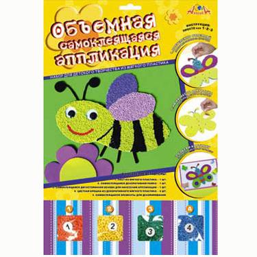 Набор ДТ Мозаика самокл.объемная Пчелка С1572-09 купить оптом и в розницу