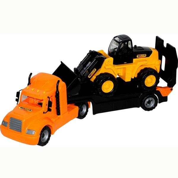 Автомобиль Майк трейлер+трактор погрузчик 55743 П-Е /1/ купить оптом и в розницу
