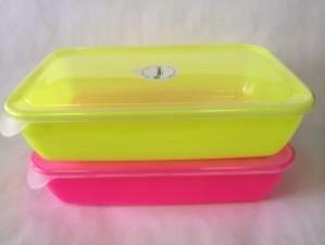 Контейнер прямоугольный (СВЧ) (пищевой) 1,9л (цветной корпус, прозрачная крышка) *30 купить оптом и в розницу