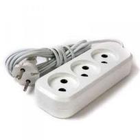 Удлинитель электрический 1,7 м/3 роз. б/з (ШВВП 2*0,5) (1/70) купить оптом и в розницу