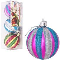 Новогодние шары, набор 3 шт, диам. 6 см купить оптом и в розницу