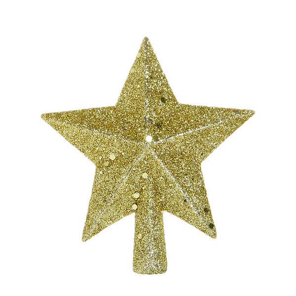 Звезда на ёлку золото 11,5см ″Мерцание″ купить оптом и в розницу