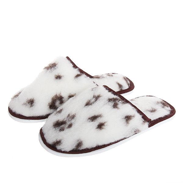 Тапочки домашние женские ″Лапки″ овечья шерсть 80% 35-36р №83 купить оптом и в розницу