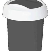 """Контейнер для мусора """"Ориджинал"""" 1 л серебряный  * 30 купить оптом и в розницу"""