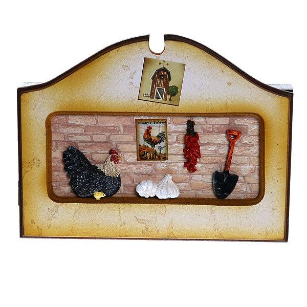 Ключница ″Курица″ 25*19 5028-2 купить оптом и в розницу